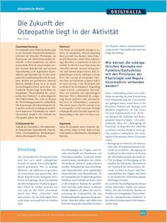 Die Zukunft der Osteopathie liegt in der Aktivität